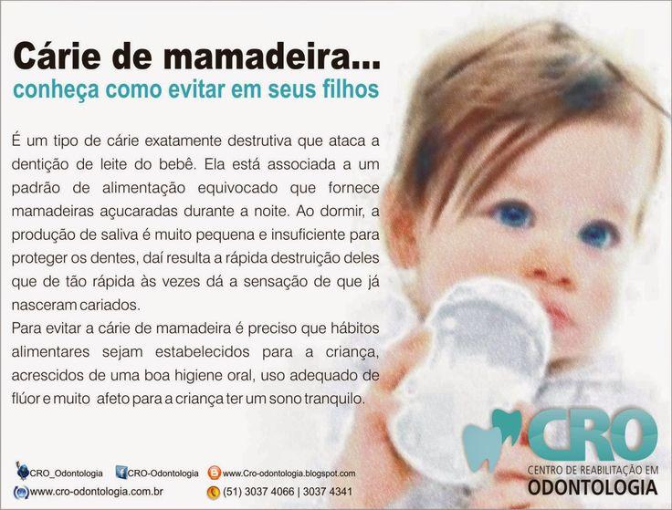CRO | Centro de Reabilitação em Odontologia: Cárie de mamadeira.