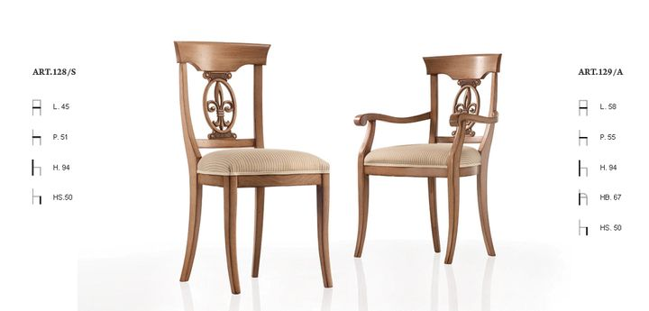 Klasszikus olasz szék 128,129 - www.montegrappamoblili.hu