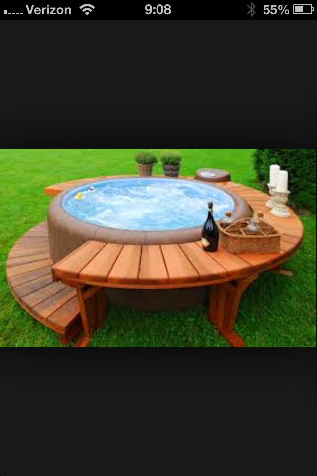 hot tub love the extra table side for drinks or towels whirlpool pinterest spas milj. Black Bedroom Furniture Sets. Home Design Ideas