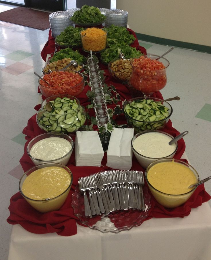 Salad bar for reception share other that i love for Food bar ideas for wedding reception