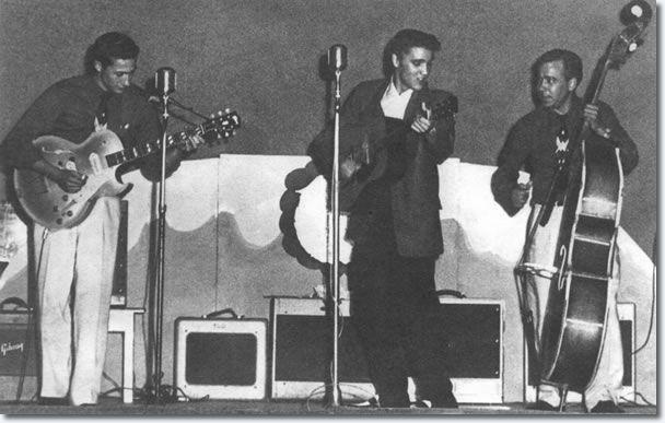 Scotty Moore, Elvis Presley & Bill Black - Beaumont Texas June 21, 1955;   SE Texas Fair Grounds!