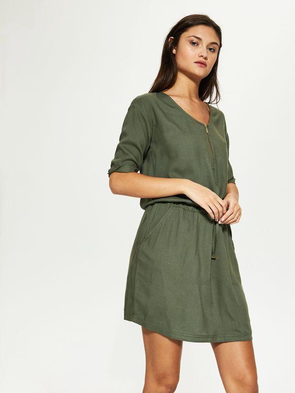 Sukienka z elastyczna talią, HOUSE, SP539-87X