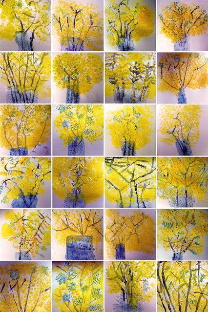 beautiful Mimosa paintings