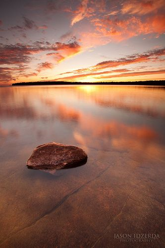 Sunset over Killbear Park, Georgian Bay, Ontario