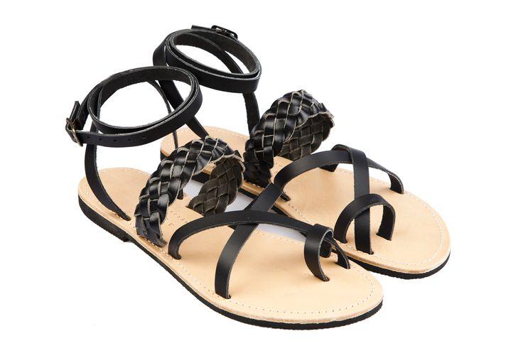 Isapera sandals : Lemonia in Black