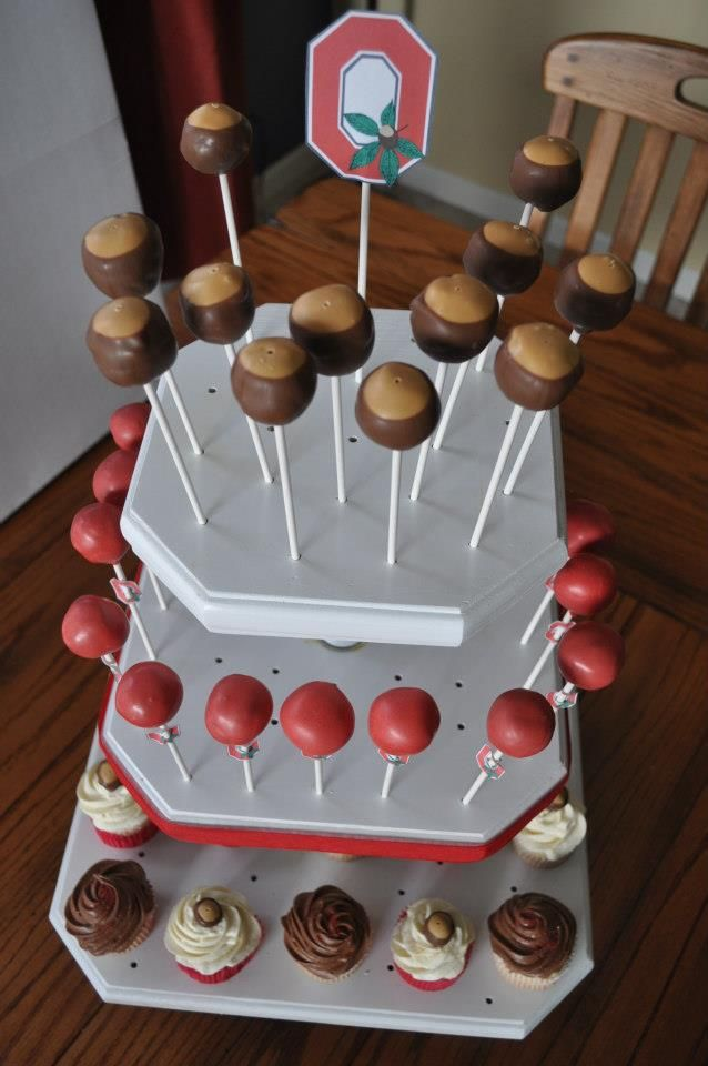 Ohio State Cake Pops & Cupcakes