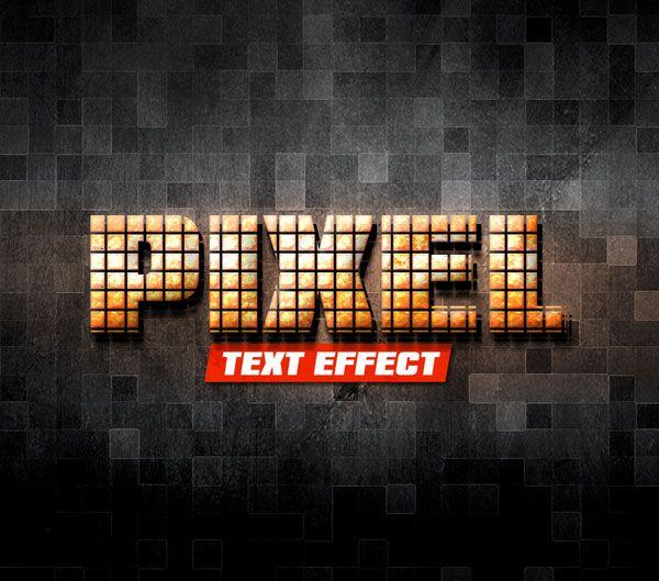 Pixel PSD Text Effect