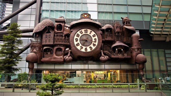 The Giant Ghibli Clock – Tokyo, Japan - Atlas Obscura