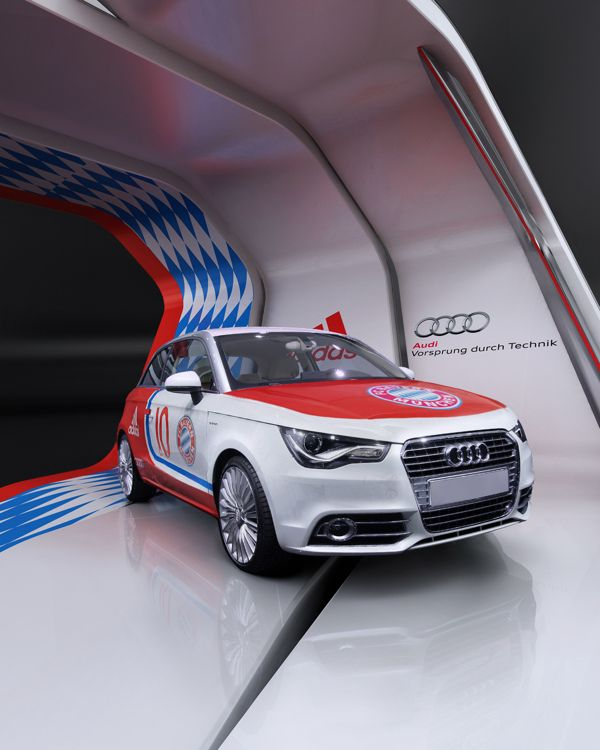 Audi Adidas fair stand by Igor Iastrebov, via Behance