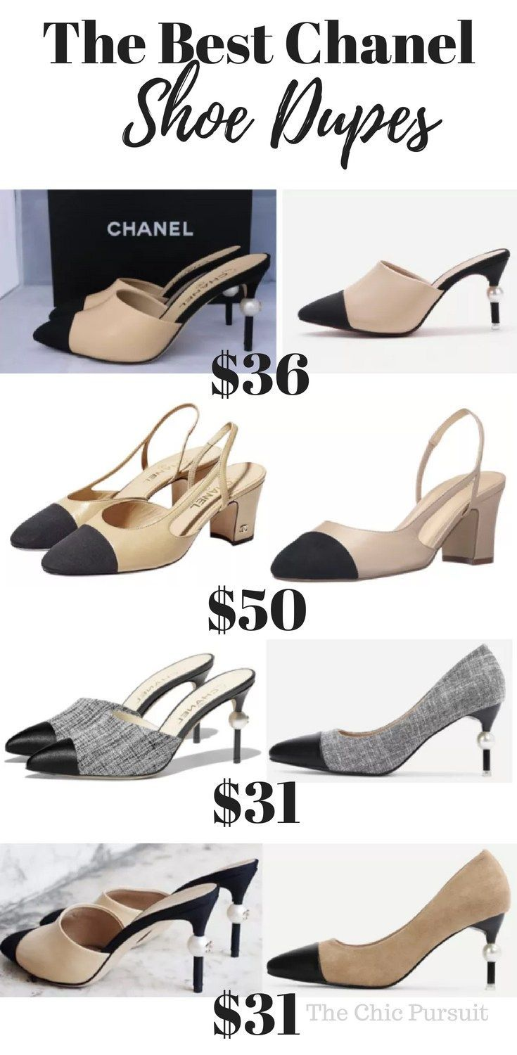 d928e82c0814 The Ultimate Guide To Chanel Dupes: Chanel Slingback dupes, mule dupes with  pearls, and other Chanel shoe dupes!