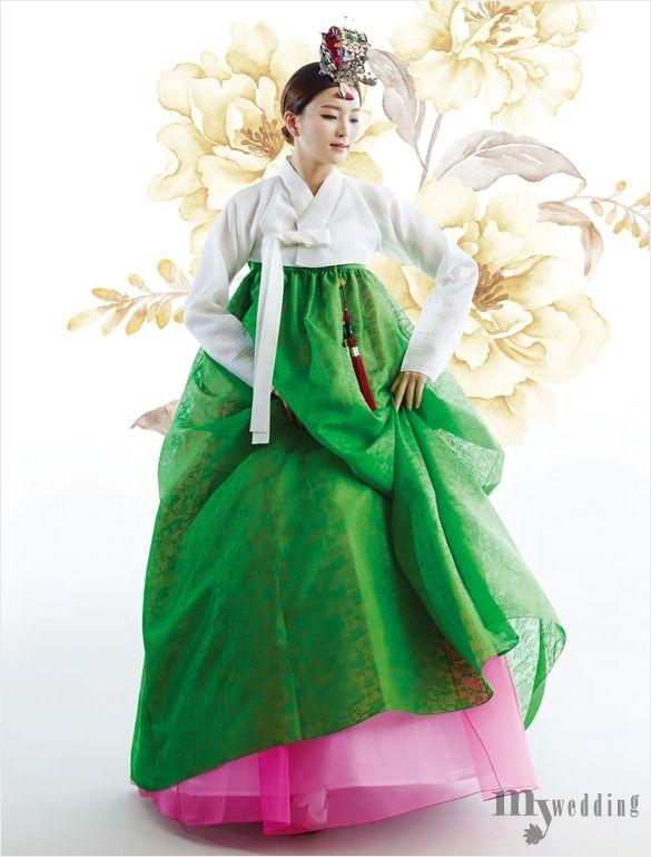 연두와 다홍의 화사하고 싱그러운 배색