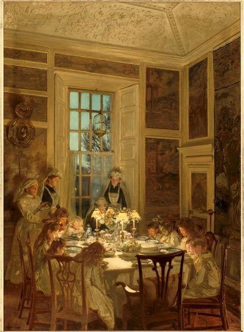 Grandmother's Birthday (Kellie Castle) by John Henry Lorimer (Scottish 1856-1936)