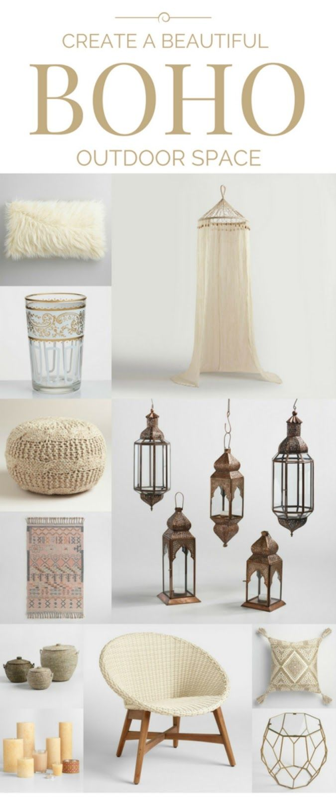 Boho Outdoor Decor via Fawn for Cost Plus World Market www.worldmarket.com
