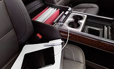 Connect mobile devices to the GMC Sierra 1500.