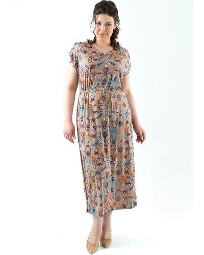 Платье 183605 коричневое