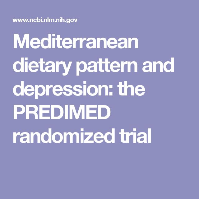 Mediterranean dietary pattern and depression: the PREDIMED randomized trial