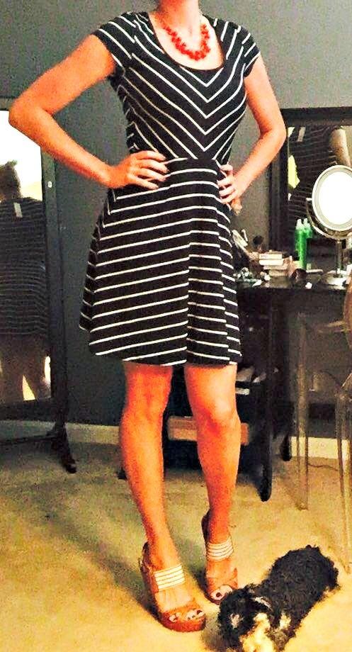 Stitch Fix Review: July 2015 - Market & Spruce Spencer Striped Jersey Dress