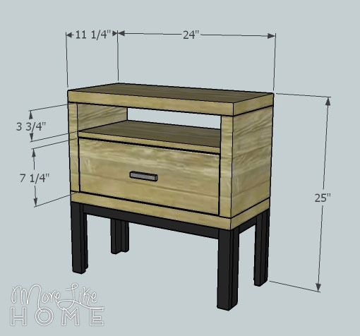 Welcome back! Today is day 16 in our DIY nightstand series. See the entire series here . Today's nightstand has a chunky build paired wit...