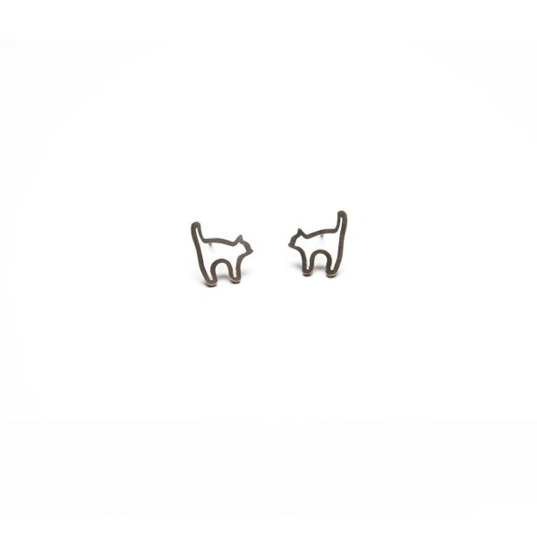 Terra Jewellery sterling silver earrings for design4paws http://www.design4paws.com/?product=cat-outline-earrings