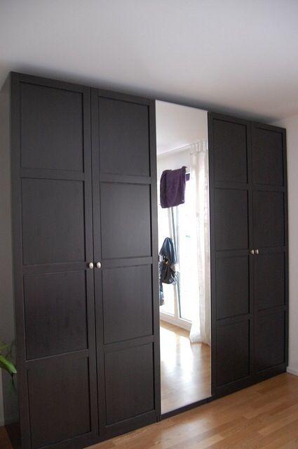 Shaker panel with mirror door