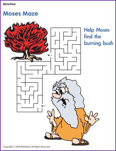 Moses Maze - Kids Korner - BibleWise