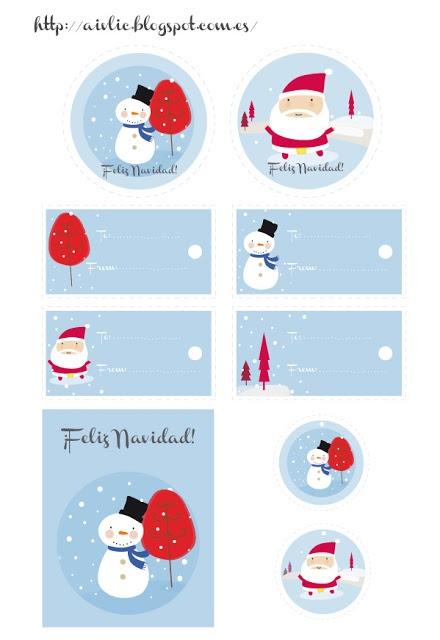 Etiquetas Navidad #printables                                                                                                                                                                                 Más