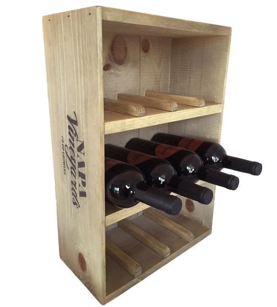 Perfect Gift for the Wine Lover! Unique wine racks handcrafted from wine crates. Holds 12 of your favorite bottles of wine. Free & Fast Shipping!
