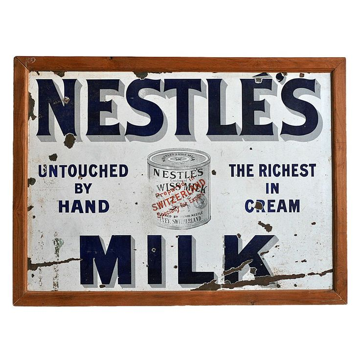 Vintage Nestle Advertising Sign - Few & Far