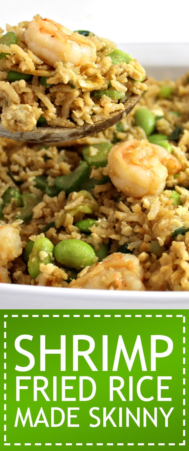 Shrimp Fried Rice Made Skinny. What a wonderfully healthy version of shrimp fried rice.  Each serving has 275 calories, 8g fat & 7 Weight Watchers POINTS PLUS. http://www.skinnykitchen.com/recipes/shrimp-fried-rice-made-skinny/