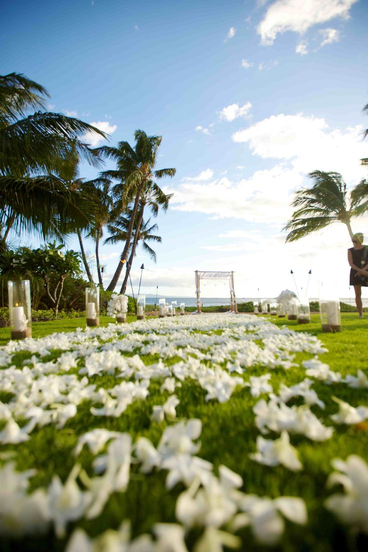 Talk About A Fairy Tale Aisle This S Featured Over White Orchids At Dewey Seasons Resort Maui