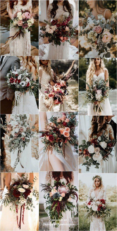 Bohemian wedding bouquet and flowers #weddings #weddingbouquets #weddingideas #b…