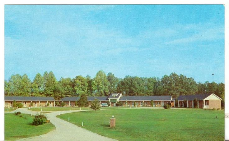 Unposted Unused Postcard Webbs Motel Bowling Green Virginia VA