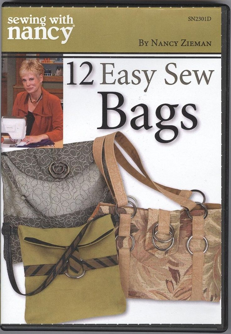 12 Easy Step By Step Natural Eye Make Up Tutorials For: Sewing With Nancy Zieman 12 Easy Sew Bags DVD