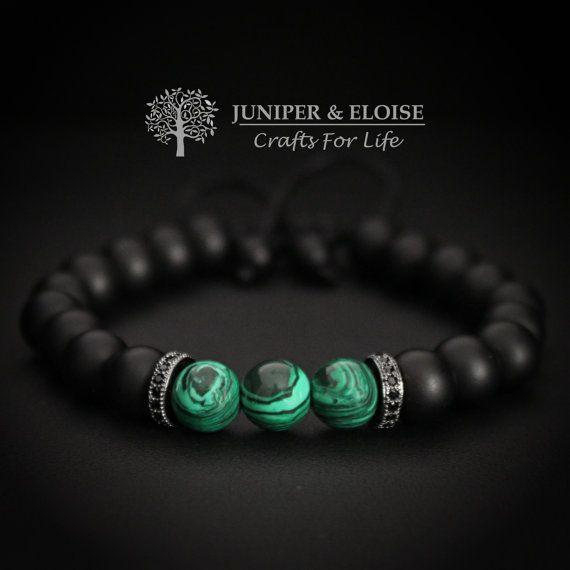 Mens Bracelet, Adjustable Bracelet, Jewelry For Men and Women , Green Lantern, Valentine's Day Gift, Gemstone Bracelet, Mothers Day Gift