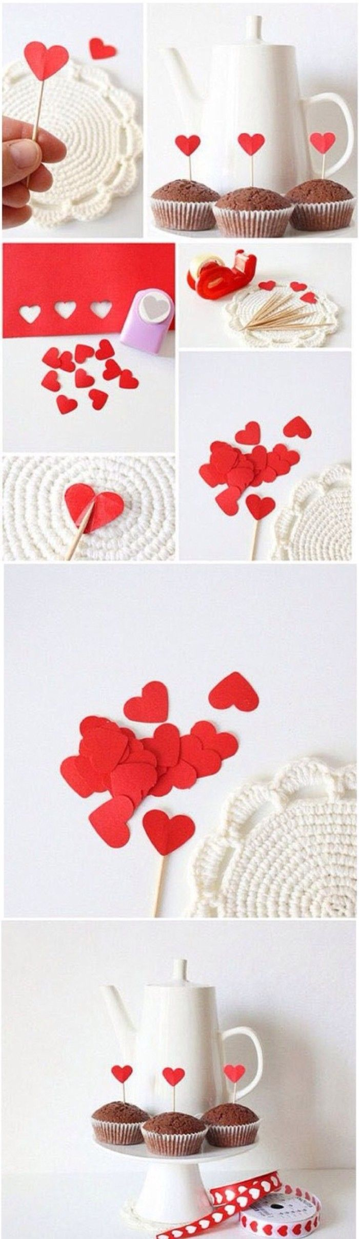 As read heart is always the express of love, bake some cake at home and then make some heart shaped decorations. This seems like quite romantic during this Valentine's Day #dessert