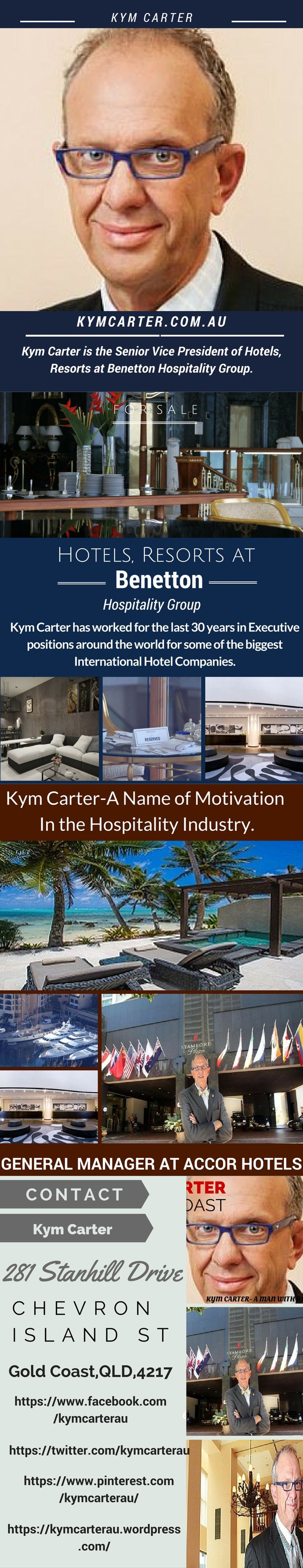 #Kym #Carter is a role model and one of the most regarded professionals in the #Australian #hotel #industry.