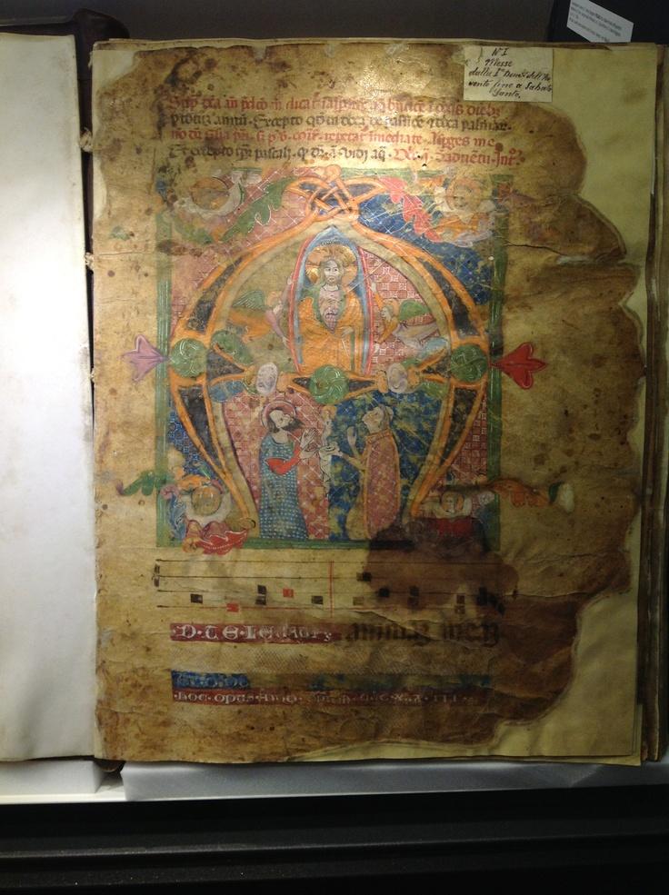 Miniatura raffigurante l'Elevazione dell'animula, contenuta in un Codice del 1333. Abruzzo
