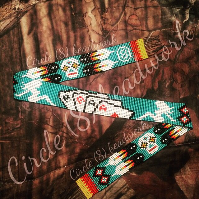 "Truckers girl!! Beaded hat band "" Circle (8) Beadwork"