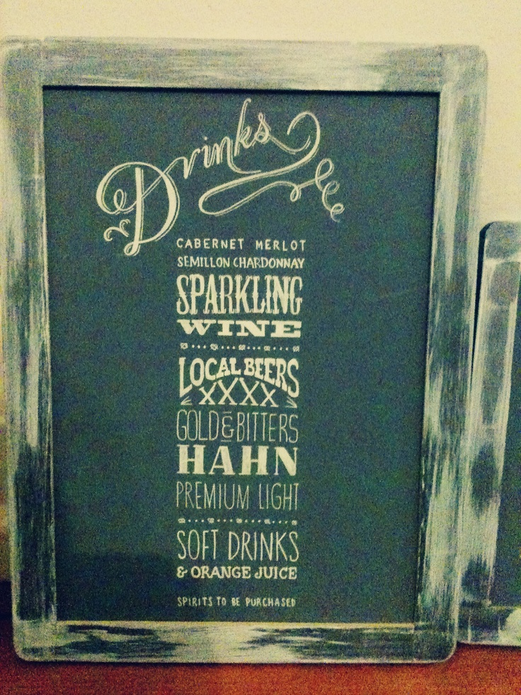 Wedding Chalkboard Typography Design & by thesimmplethings on Etsy. $100.00, via Etsy.