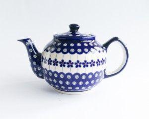 Teapot 1l #PotteryCorner #Boleslawiec #Polishpottery #teapot