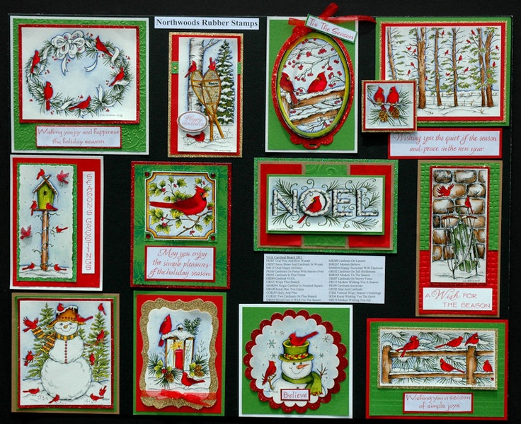 Rubber Stamp Card Making Ideas Part - 46: Beautiful Assortment From Northwood Rubber Stamps. Prettier In Person.  Christmas TagChristmas CraftsWinter CardsHoliday ...