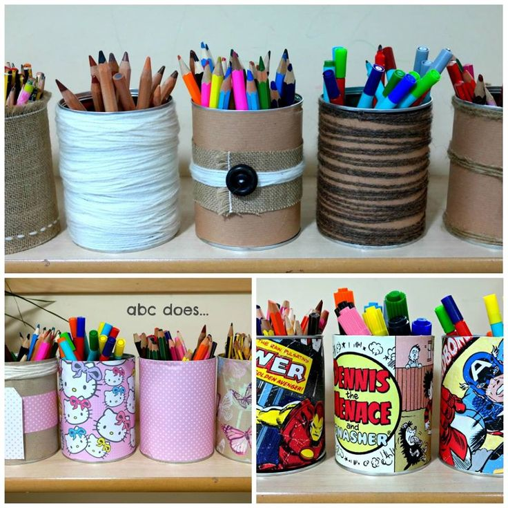 covered tins for mark making resources - get engagement by dressing for interest.