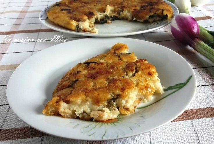 """Frittata+cipolle+e+farina+""""nchiambara"""" Facile con pochi ingredienti e senza uova!!! #gialloblog #incucinaconmire #Pasqua #incucinaconmire #foodporn #gialloblogsocial #ricetta"""