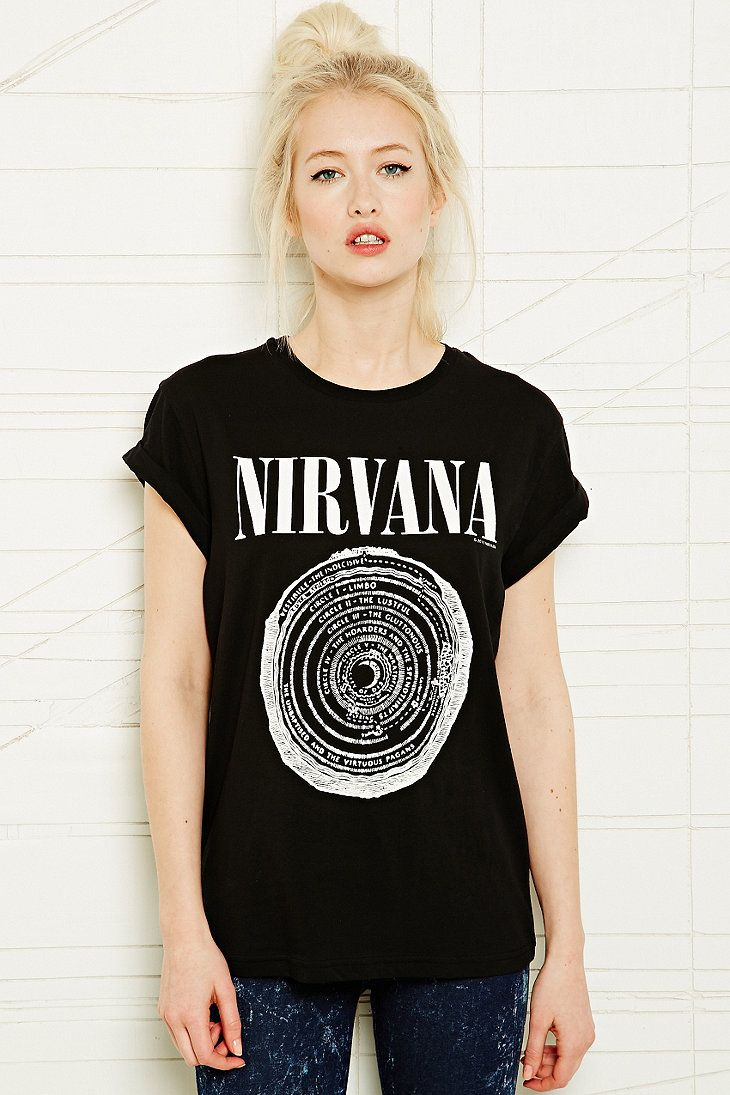 Black t shirt grunge - Nirvana Tee Urban Outfitters On Wanelo