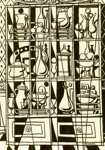Drawing Sideboard (tavern Window) By Rafael Zabaleta