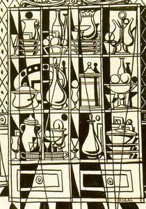 Zeichnung Sideboard (Taverne Fenster) - (Rafael Zabaleta Fuentes)