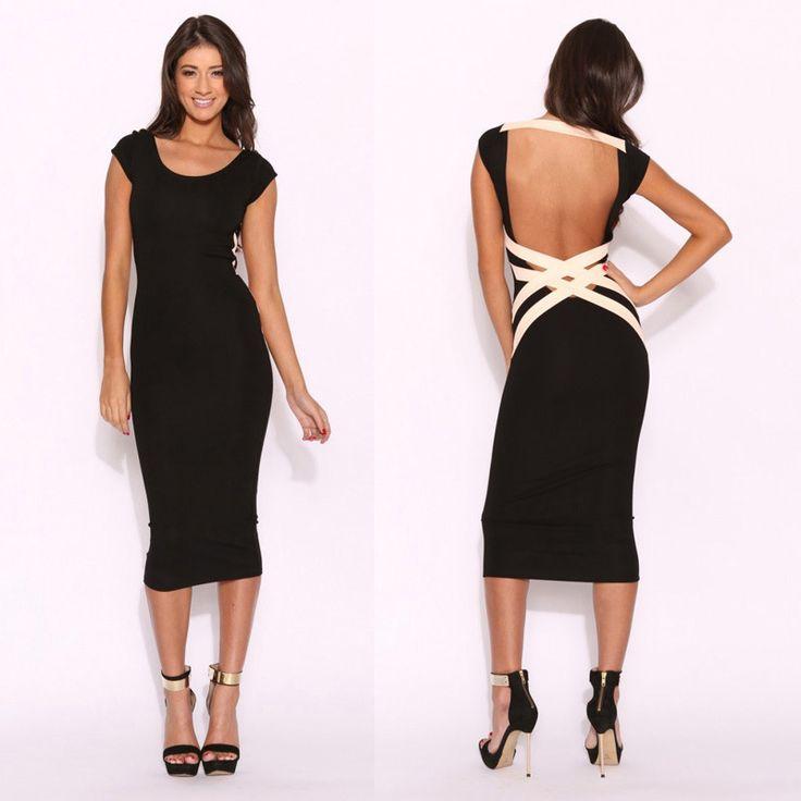 Women-Casual-Back-Dress-Lady-Sexy-
