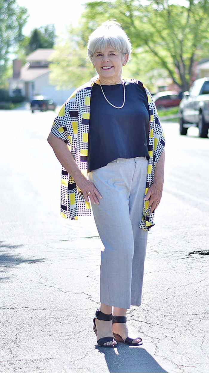 Fashion For Older Women Capri Pants For The Summer Months Sixty And Me Over 60 Fashion Over 50 Womens Fashion Older Women Fashion [ 1245 x 700 Pixel ]