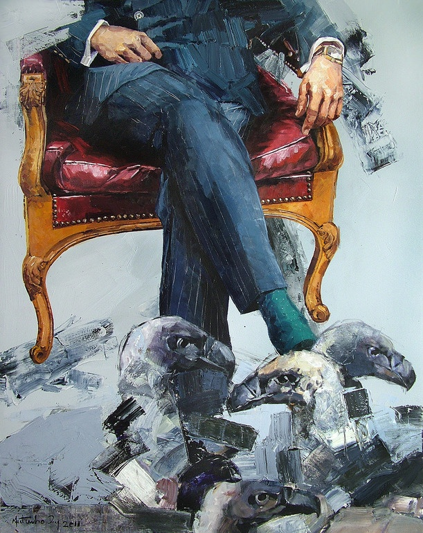 """MARTINHO DIAS; Acrylic, Painting """"Among theirs"""""""
