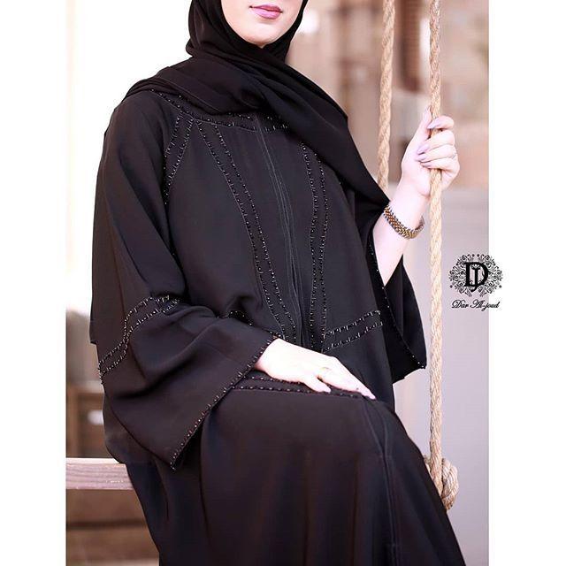 استقبل عليها تفصيل Abaya Fashion Abaya Dress Fashion